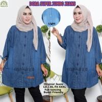 Baju Atasan Wanita Muslim Blouse Dora Super jumbo jeans