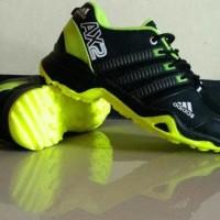 Sepatu Sport Pria Adidas Ax2 Hitam/Hijau - Good Quality