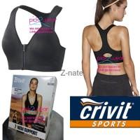 Terlaris Sale Sport Bra Running / Zumba / Fitness Black Zipper High Im