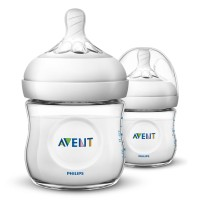 Avent - New Natural Bottle 125ml x 2 WHITE