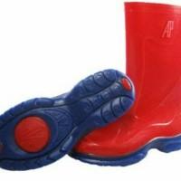 Sepatu boot AP polos anak tanggung