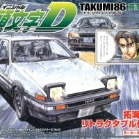 Initial D Aoshima 1/32 AE86 Trueno Fujiwara Takumi Retractable Ver