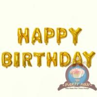 Balon Foil Huruf GOLD/ Balon nama murah/ balon abjad  ECER