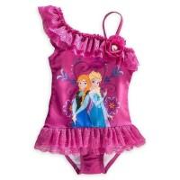 SS067 Baju Renang anak cewek Disney Frozen Purple