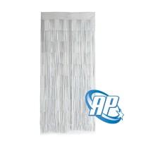 tirai foil putih / curtain foil / background party / backdrop foil