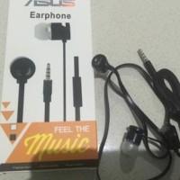HEADPHONE EARPHONE : HEADSET STEREO HANDSFREE ASUS STEREO KABEL GEPENG