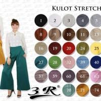 Kulot Stretch, Celana Panjang Wanita 3R, Katun STD fit XXL
