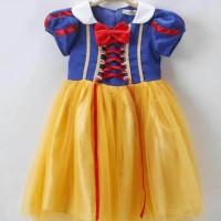 Dress Baju Costume Kostum Gaun Princess Disney Snow White Putri Salju - 140