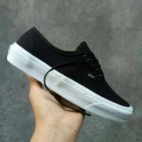Sepatu Vans Authentic Mono Black White Premium Qualitu Waffle DT