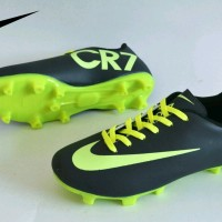 sepatu bola nike mercurial CR7 hitam hijau sz 33-37 original premium