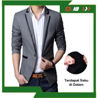 Jas Blazer GGS Grey Line Black Premium, Jas Aliyando Casual Formal