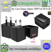 Spy Cam Charger Adaptor 1080P Full HD 8 GB Murah Termurah