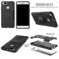 Xiaomi Mi A1 - Heavy Duty Rugged Armor Stand Case