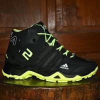 Best Seller Sepatu Adidas AX2 Boots Goretex Hitam Hijau Stabilo