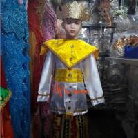 baju adat lampung perempuan dengan kain tapis dan perhiasan mahkota