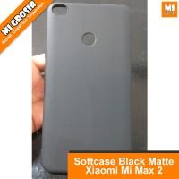 Sarung Case Xiaomi MI MAX 2 - Casing MI MAX 2 Silicon Black Matte