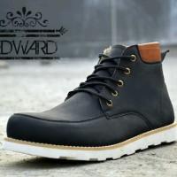 Sepatu Boots Casual Pria Moofeat Edwar HItam Original BUKAN nike yeezy