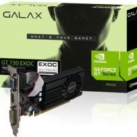 New VGA Card GALAX Geforce GT 730 1GB DDR5 64 Bit - Nvidia GT730