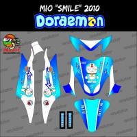 Sticker striping motor stiker Yamaha Mio Smile Doraemon Komenk Spec
