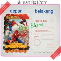 kartu undangan ulang tahun happy birthday anak karakter spiderman