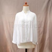 Shirt Wanita Kerah Koko Putih Lengan Panjang w/ Lace [SPECIAL OFFERS]