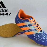 sepatu futsal dewasa size jumbo adidas original premium blue 44-47