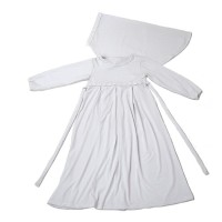 (Sale) Baju Muslim Gamis Anak Perempuan Putih Lucu Simple Murah