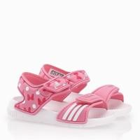 sepatu sendal anak adidas akwah 9 white pink putih
