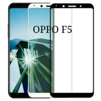 Tempered glass Full 3D Oppo F5 New Curved Warna Screen Protector