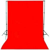 Backdrop Background Foto Merah Polos 200 x 300 Cm Red Screen Tebal