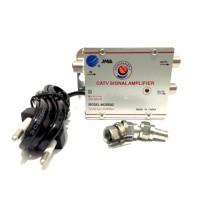 Penguat Penjernih Sinyal Frekwensi TV Antena + 2 Way Splitter (CATV S