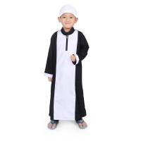 BAJUYULI - Koko Gamis Baju Muslim Anak Cowo Murah Putih Hitam KGS01