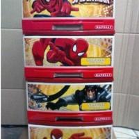 Lemari Laci Plastik Napolly Susun 4 Spiderman