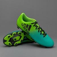 Sepatu bola adidas original X16 4 hijau stabilo turquis new 2017