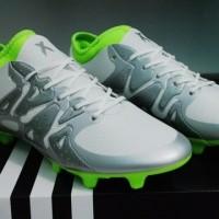 Sepatu Bola Adidas X 15 1 White Silver FG