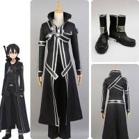 Sword Art Online SAO COSplay Costume Kazuto Kirigaya Kirito