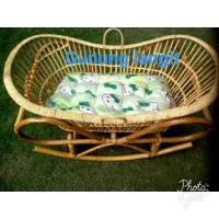 Ayunan bayi Rotan/Box Bayi Rotan Model Perahu