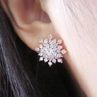 Anting Permata Batu Kristal Korea Wanita / Anting pesta cantik Import