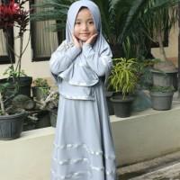 Baju Gamis Anak / Busana Muslim Anak / Baju Anak Perempuan / Pita Emas