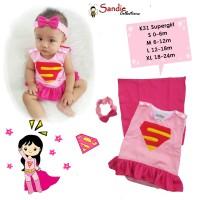 Jumper Baju Bayi Lucu Kostum Supergirl