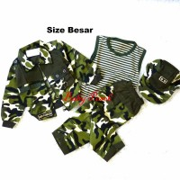 Jaket Baju Tentara Loreng Army Anak Laki-Laki Size Besar