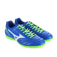 Sepatu Futsal Mizuno Monarcida 2 Fs In Wide - Strong Blue White Green