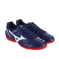 Sepatu Futsal Mizuno Monarcida 2 Fs In Wide - Blue Depths White Chines