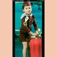 Baju Kostum Karnaval Anak Profesi Pramugari Pesawat Penumpang