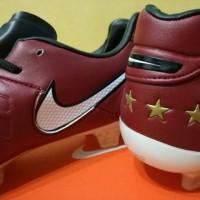 (Sale) Sepatu Bola / Soccer Nike Tiempo Legend VI Pirlo Red Wine - FG