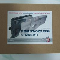 p90 sword fish kit/ris p90 bahan metal