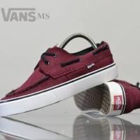 sepatu sneakers vans zapato waffle icc maroon