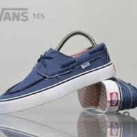 sepatu sneakers vans zapato waffle icc navy