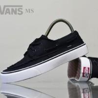 sepatu sneakers vans zapato waffle icc hitam