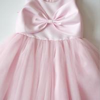 Baju Pesta Pink Anak Happyelm Melinda Pita pink